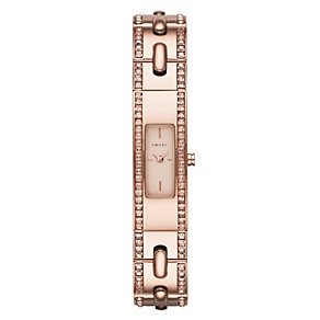 DKNY ladies' rose gold-plated stitch bangle watch - Product number 1738089