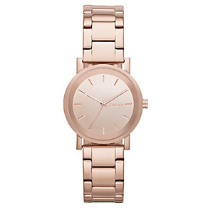 DKNY Mirror ladies' rose gold-plated bracelet watch - Product number 1738119