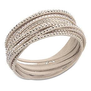 Swarovski Slake crystal set microfiber bracelet - Product number 1738550