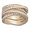 Swarovski rose gold-plated crystal spiral ring size P - Product number 1738593