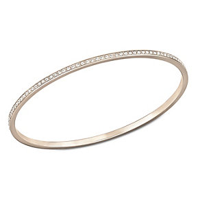Swarovski Ready rose gold-plated crystal medium bangle - Product number 1738607
