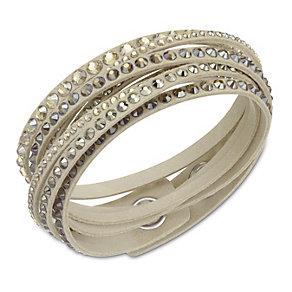 Swarovski Slake crystal set microfiber bracelet - Product number 1738623