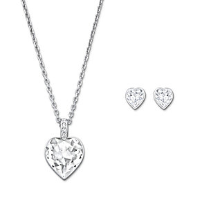 Swarovski Agree crystal heart pendant & stud earrings set - Product number 1738631