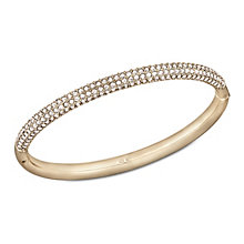 Swarovski rose gold-plated crystal set mini medium bangle - Product number 1738674