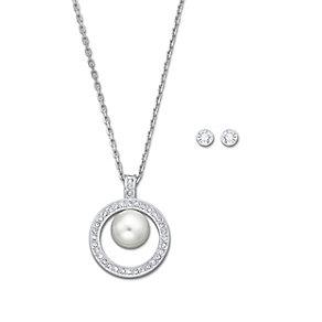 Swarovski Appear rhodium-plated pendant & stud earrings - Product number 1739204