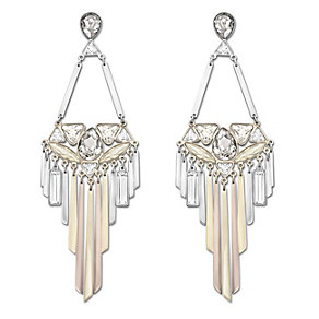 Swarovski Airy mixed metal crystal drop earrings - Product number 1739336