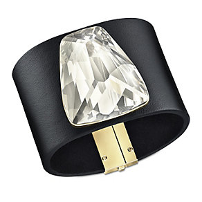 Swarovski Arty gold-plated crystal large leather bracelet - Product number 1739379