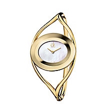 Calvin Klein ladies' gold plated bracelet watch - Product number 1739468