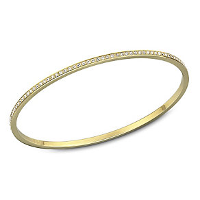 Swarovski Ready gold-plated crystal medium bangle - Product number 1739573