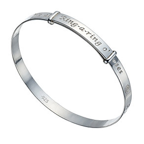 Sterling Silver Children's 'Ring-A-Ring O' Roses' Bangle - Product number 1741969
