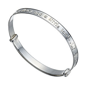 Sterling Silver Children's 'Mary Had A Little Lamb' Bangle - Product number 1741977