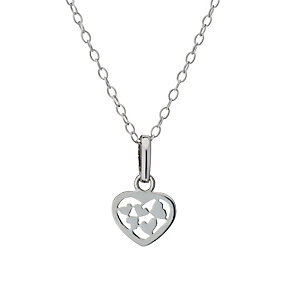 Sterling Silver Children's Heart Cut Out 14