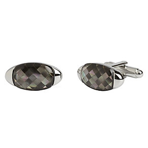 Simon Carter grey mother of pearl gherkin cufflinks - Product number 1746219