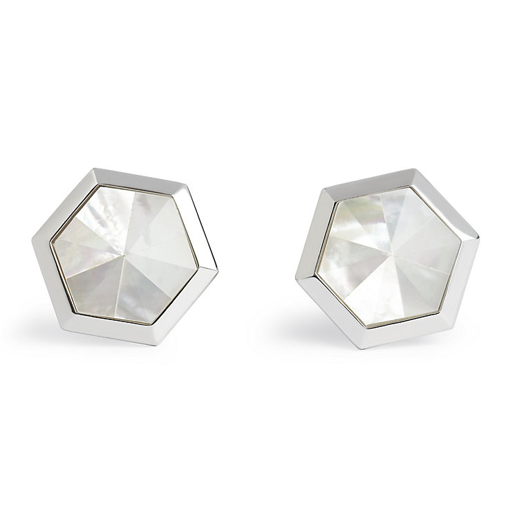 Simon Carter stainless steel white catseye cufflinks - Product number 1746243