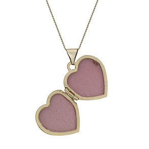 "9ct Gold Nan Heart Swirl Detail 18"" Locket - Product number 1750380"