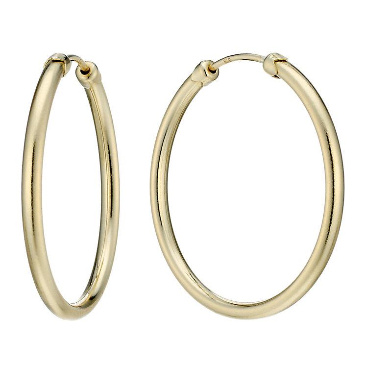 9ct Gold 26mm Medium Gauge Hoop Earrings