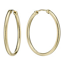 9ct Gold 26mm Medium Gauge Hoop Earrings - Product number 1750933