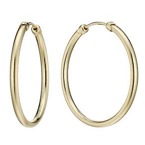 9ct Gold 32mm Medium Gauge Hoop Earrings - Product number 1750941