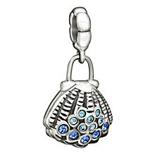 Chamilia silver pearl & Swarovski elements clamshell bead - Product number 1751085