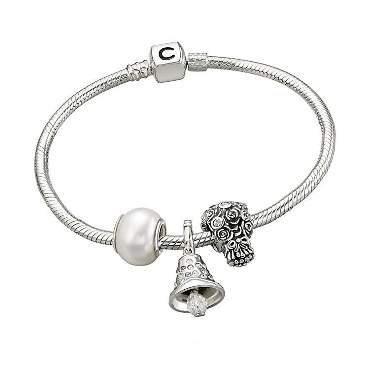 Chamilia silver Swarovski elements bridal bracelet & beads - Product number 1751174