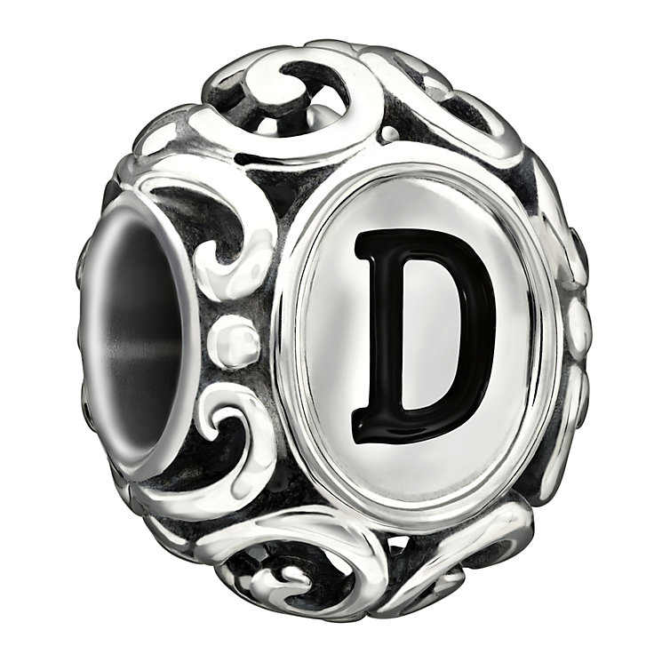 Chamilia sterling silver letter D bead - Product number 1751220