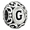 Chamilia sterling silver letter G bead - Product number 1751255