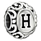 Chamilia sterling silver letter H bead - Product number 1751263