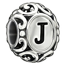 Chamilia sterling silver letter J bead - Product number 1751298