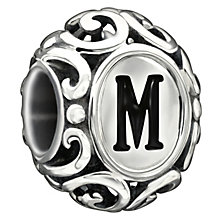 Chamilia sterling silver letter M bead - Product number 1751336