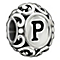 Chamilia sterling silver letter P bead - Product number 1751360