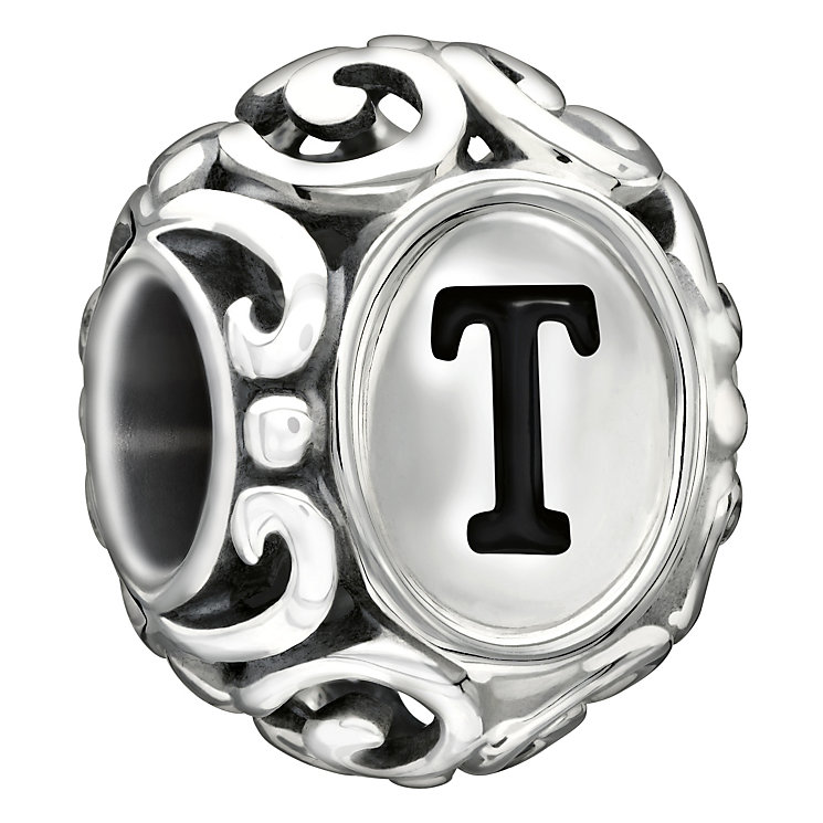 Chamilia sterling silver letter T bead - Product number 1751417