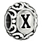 Chamilia sterling silver letter X bead - Product number 1751468