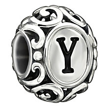 Chamilia sterling silver letter Y bead - Product number 1751476