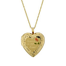 "Together Bonded Silver & 9ct Gold 18"" Heart Locket - Product number 1751565"