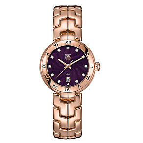 Tag Heuer Link ladies' 18ct rose gold bracelet watch - Product number 1754742