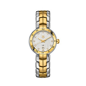 TAG Heuer Link ladies' diamond set two colour bracelet watch - Product number 1754750