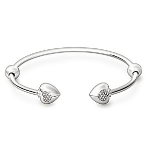 Chamilia Sterling Silver Pave Crystal Heart Small Cuff - Product number 1756060