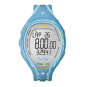 Timex Ironman 250 Lap Ladies' Turquoise Resin Strap Watch - Product number 1756095