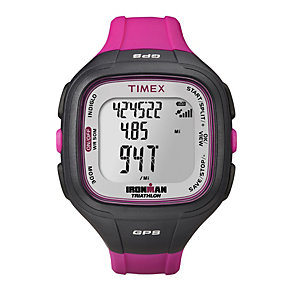 Timex Ironman Easy Trainer GPS Berry Resin Strap Watch - Product number 1757288