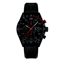 TAG Heuer Carrera Calibre 1887 men's black tyre strap watch - Product number 1757490