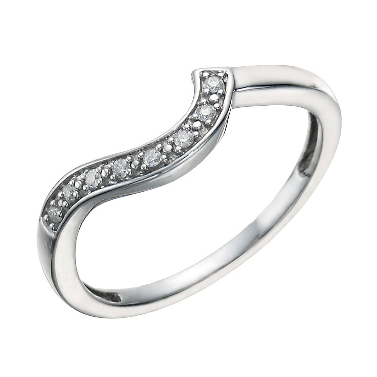 Perfect Fit Silver & Diamond Eternity Ring - Product number 1760394