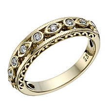 9ct Yellow Gold Diamond Perfect Fit Eternity Ring - Product number 1762435