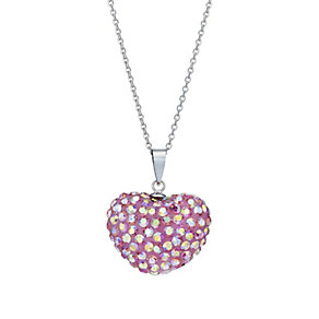 Tresor Paris reversible white & pink crystal heart pendant - Product number 1762699