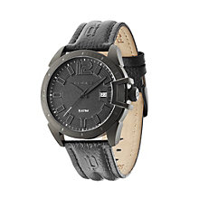 Police Men's Black Dial Black Leather Strap Watch - Product number 1763377