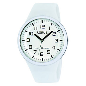 Lorus Kid's White Strap Watch - Product number 1763687
