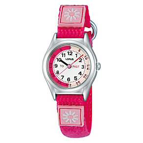 Lorus Kid's Pink Time Teacher Daisy Watch - Product number 1763695