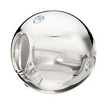 Chamilia Sterling Silver Illuminated Sphere Aquamarine Bead - Product number 1765302