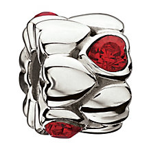 Chamilia Sterling Silver Light Siam Connecting Hearts Bead - Product number 1765329