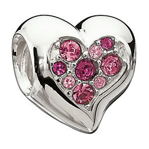 Chamilia Sterling Silver Pink Inner Sparkle Heart Bead - Product number 1765418