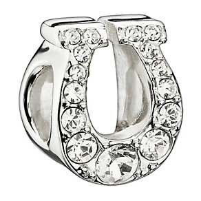 Chamilia Sterling Silver Crystal Lucky Horseshoe Bead - Product number 1765442